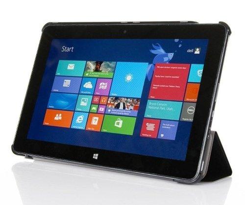 Hülle für Dell Venue 11 PRO 5130 10.8 Zoll Hülle Stand Cover Slim Flip (Schwarz) NEU