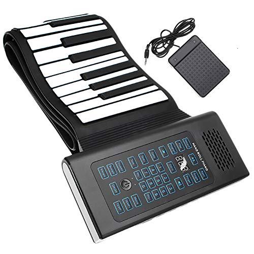 ClothHouse 88 Tasti Portable Piano Pieghevole Mano Roll, Silicone Ambientale Impermeabile Antisdrucciolevole del Piano della Tastiera Giocattolo, Electronic Music Instrument Grande Regalo di Natale