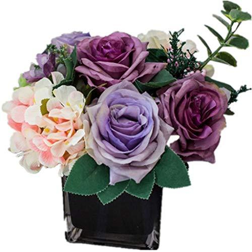 HGG Creatieve Hydrangea Bloem met zwarte bloemen, voor het decoreren van namaakbloemen