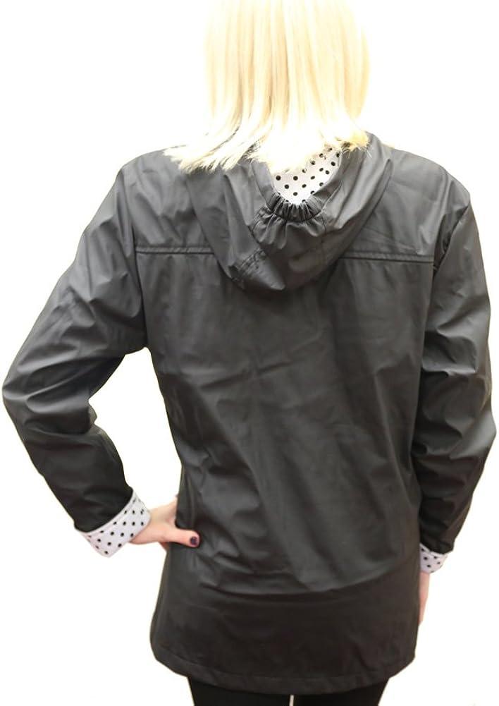 Apparel No 5 Womens Hooded Toggle Rain Coat
