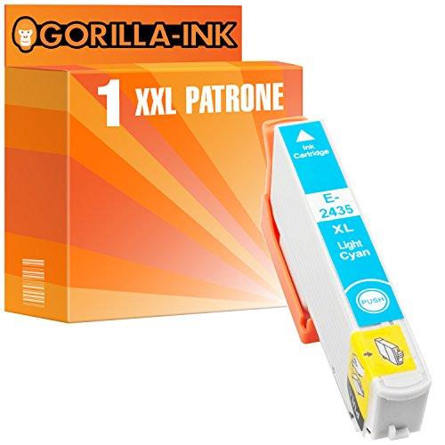 Gorilla-Ink 1x Tinten-Patrone XXL GI2435 Light Cyan kompatibel mit Epson Expression Photo XP-55 XP-750 XP-760 XP-850 XP-860 XP-950 XP-960