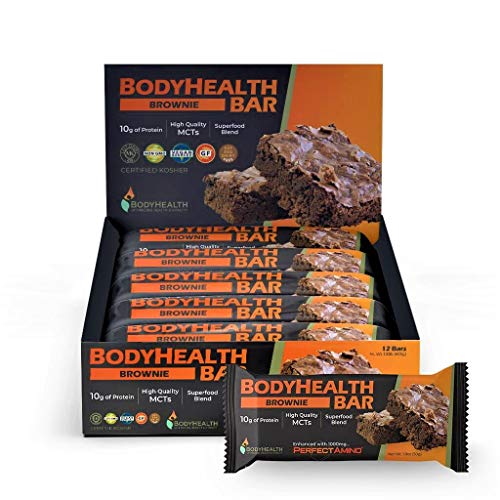 top 10 top ten bcaa BodyHealth Bar: Protein Energy Snacks (Cocoa Brownies, 12 Pieces) 10g Protein   Factory…