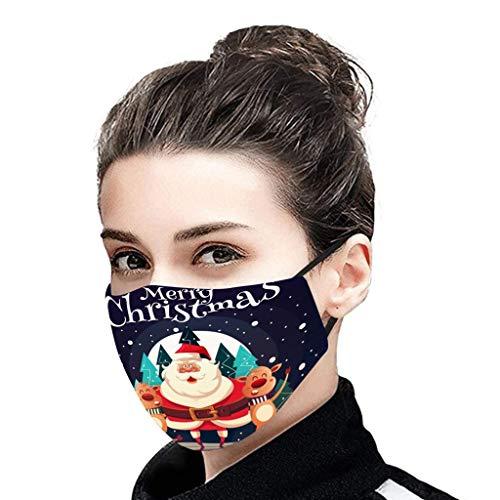 1 Stück Mundschutz 3D Cartoon Druck für Erwachsene Atmungsaktive Waschbare Erwachsene Halstuch Atmungsaktiv Bandana Winddicht Scarf (B1)