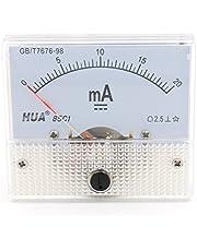 Heschen 85C1-20mA - Medidor de corriente rectangular montado en panel (CC) 0-20 mA Clase 2,5, color blanco