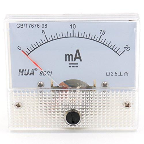 Heschen 85C1-20mA Rechteck Panel montiert Stromzähler Amperemeter Tester DC 0-20 mA Klasse 2,5 weiß