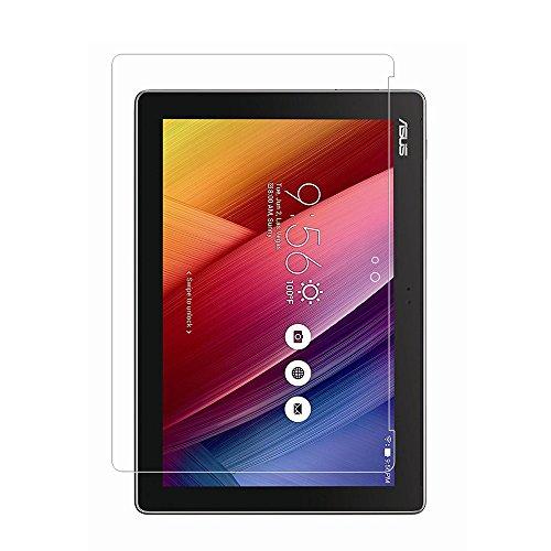 ASUS ZenPad 10 Z300M Protector de pantalla, cobertura total 9H Protector de pantalla de vidrio templado para ZenPad 10 Z300M con anti-huella digital Sin burbujas Crystal Clear