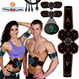 ABS Stimulator Muscle Toner, Vcloo Muscle Toner Rechargeable Abdominal Muscle Trainer, Abdominal Toning