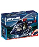 PLAYMOBIL Policía - Helicóptero de policía, Juguete Educativo, Multicolor, 35 x 10 x 25...