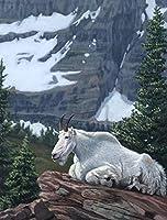 大人と子供のための山羊ダイヤモンド絵画モザイクダイヤモンド刺繡装飾ラインストーンの家の写真手作りクリスタルアートお土産ライフデコレーション(正方形50x60cm)