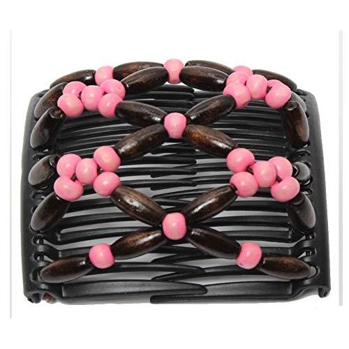 JUSTFOX - Trend African haarclip haarclip haarspeld haar clips haarkam licht roze