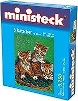 Ministeck 3 Katten, 9.750 delig, (53,3 x 66,6 cm) inc. Grondplaat