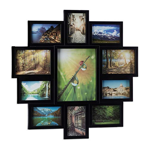 Relaxdays Picture Frame Collage, Photo Gallery for 11 Pictures, Hanging...