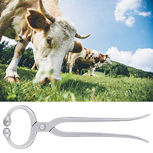 Kadimendium Alicates para Anillos de Nariz Clip bovino, Anillo de Nariz Duradero Ganado Práctico Clip de Nariz de Ganado Alta precisión Fuerte Durabilidad para ranchos
