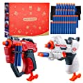 PlayFleur Foam Blaster Guns Toy with 40 Soft Foam Darts Bullets & 2 Wrist Bands for Nerf Guns Toys Party Supplies, Ideal Gift Toy for 5,6,7,8,9,10+ Years Old Kids Boys & Girls