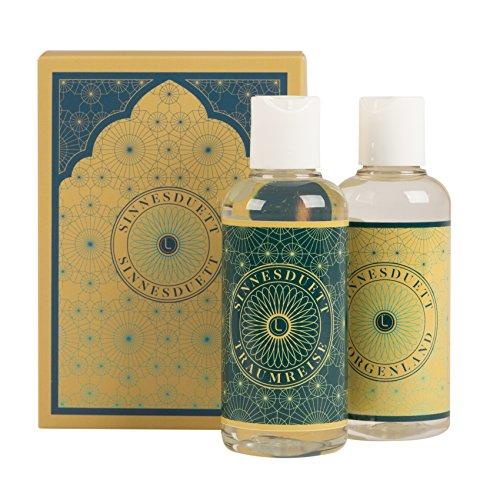 Deluxe Massageöl Geschenkset (2x100ml) Lumunu Sinnesduett, für entspannenden Massagegenuss, von Venize