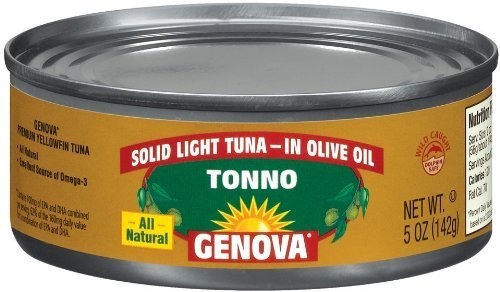 Genova Tonno, Solid Light Tuna in Olive Oil,...