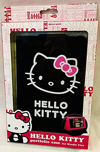 Hello Kitty Portfolio Case for 8.9' Kindle Fire HD Tablet - Black