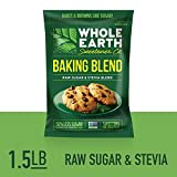WHOLE EARTH SWEETENER Baking Blend, Granular Raw Sugar and Stevia...