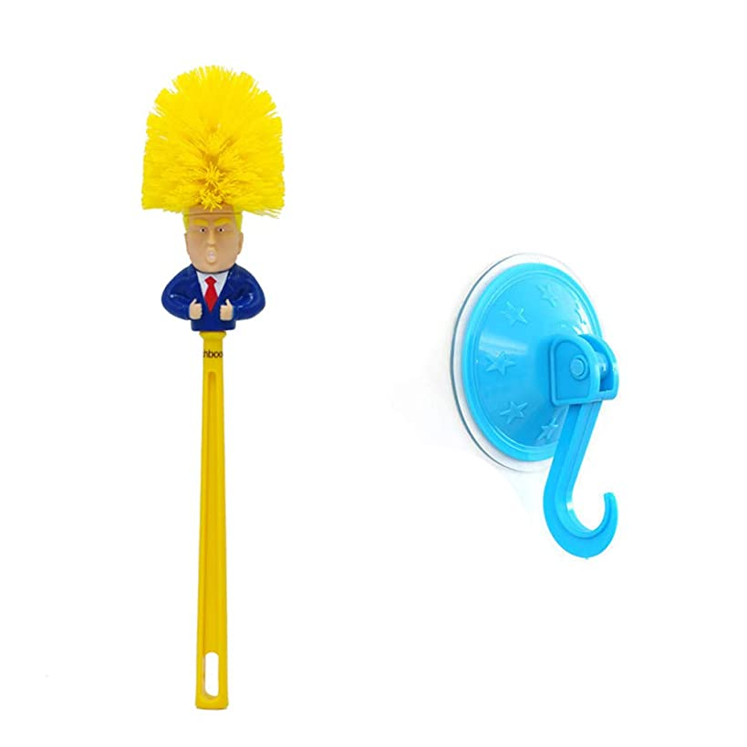 Richboom Donald Trump Toilet Brush, Highly Collectible Novelty Trump Toilet Brush, Funniest Political Gag Gift, Commander in Crap, Make Toilet Great Again