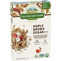 Cascadian Farm Organic Granola Maple Brown Sugar Cereal 15 oz (Pack of 6) [並行輸入品]
