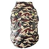 smalllee _ Lucky _ store Medium Hund Camo Jacke Weste gepolsterte Militärische Dog Winter Coat Trench Warm Apparel Chihuahua Kleidung