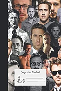 Composition Notebook: Ryan Gosling Collage Premium Journal And Logbook