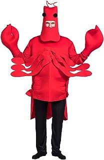 lem Hummer lustiges Outfit-Set Halloween-Krabben-Anziehkostüm Erwachsenenleistung Tier-Strampler-Maskerade-Jahrestreffen-Leistungskostüm