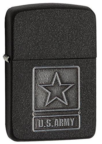 Zippo Zippo 2003872 Feuerzeug U.S. Army Pewter Emblem Schwarz