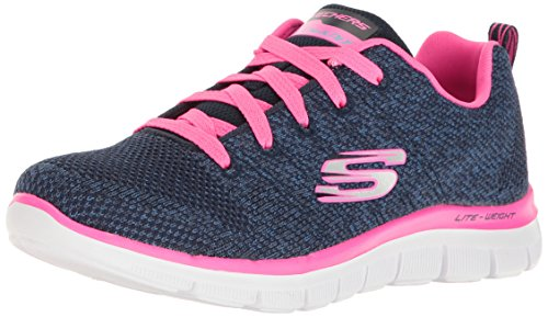 Skechers Mädchen Skech Appeal 2.0 - High Energy Sneaker, Blau (Navy/hot Pink), 29 EU