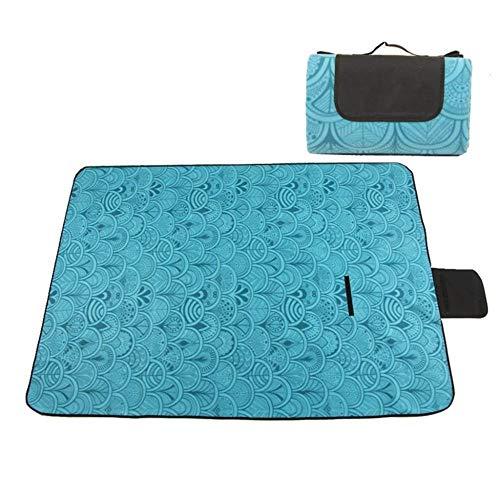 Waterdichte strandmat, picknickkleed, buitenshuis, picknickmattenten-oplegger, beweegbaar, waterdicht, 150/200 × 200 cm, meerdere afmetingen