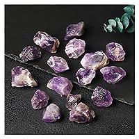 天然石 天然クリスタルクォーツプローブタイガーアイスーク、天然蛍石、不規則な形、粗い、大きな穀物のロック解除されたコレクション (Farbe : Dreamy purple, Größe : 1pc)