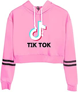 Women's Short Style Round Neck Hooded Character 3D Tik Tok Printing Pullover, Leisure Long-Sleeve Sweatshirts