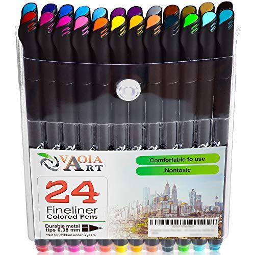 Colored Gel Pens - Gel Pens for Kids - Coloring Pens - Glitter Pens Set - Pen Sets for Girls - Spirograph Pens - Pen Art Set - Artist Gel Pens - Sparkle Pens for Kids - 24 Gel Pens - Arts Pens
