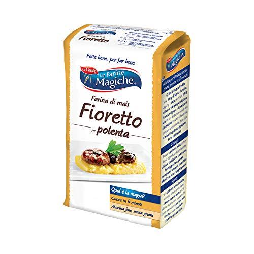 Le Farine Magiche Farina di Mais Fioretto per Polenta, Macina Fine, Ideale per Polenta Fine, Ciambelloni, Biscotti e Crespelle, Confezione da 1000 g