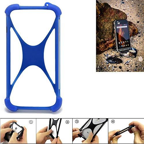K-S-Trade® Handyhülle Für Caterpillar Cat S31 Silikon Schutz Hülle Cover Case Bumper Silikoncase TPU Softcase Schutzhülle Smartphone Stoßschutz, Blau (1x),