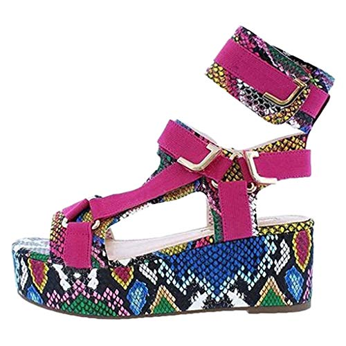 Fantastic Deal! Eimvano Sandals for Women Wide Width Platform Sandals Summer Buckle Strap Open Toe A...