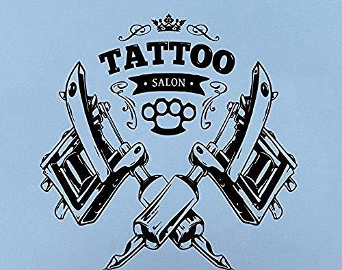 YFKSLAY Aufkleber Wand Vinyl Vitrine Tatoo Center Designer Tatoo Original Design verleiht Ihrem Schaufenster einen neuen Look für EIN 60 x 60 cm Tattoo