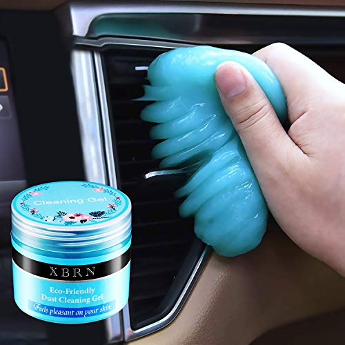 XBRN Cleaning Gel for Car Detailing Putty Cleaning Putty Detailing Gel Detail Tools Car Interior Cleaner Universal Dust Removal Gel Vent Cleaner Keyboard Cleaner for Laptop,Car Vents (Blue)