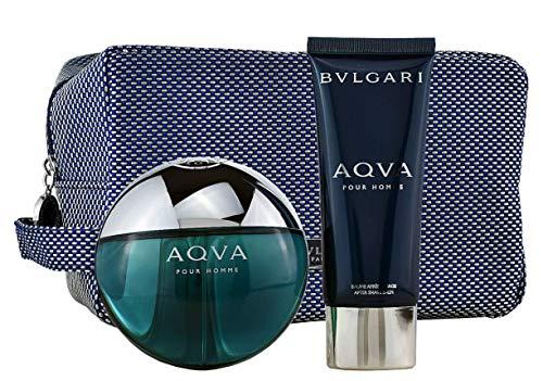 Bvlgari Aqva pour Homme homme/man Set (Eau de Toilette,100ml+After Shave Balm,100ml,Pouch), 300 g