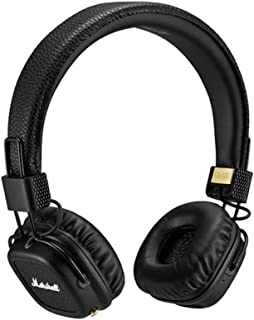Marshall Major II Bluetooth Headphones, Collapsible Wireless On-Ear Headphones, with 30+ Hours of Portable Playtime and Built-in Microphone and Control Knob, Black
