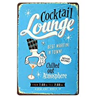Lounge Best In Town 金属板ブリキ看板警告サイン注意サイン表示パネル情報サイン金属安全サイン