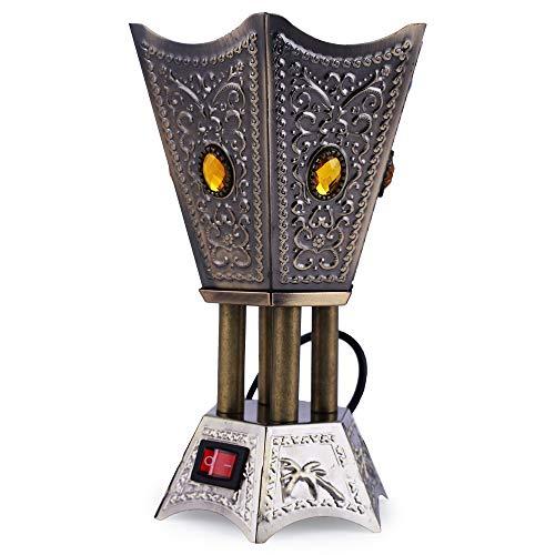 Grey Electric Bakhoor Burner Electric Incense Burner Oud Bakhoor Frankincense for Diwali Gift Positive Energy IB-23 Grey