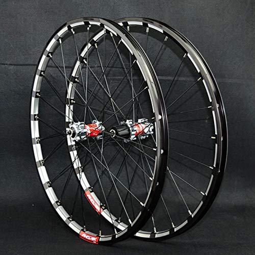SN 26 27.5 In MTB Fahrrad Laufradsatz Mountainbike Radsatz Doppelwandig Schnelle Veröffentlichung 4 Lagerscheibenbremse 7-12 Fahrradfelgen Vorderräder Hinten (Color : B, Size : 26IN)