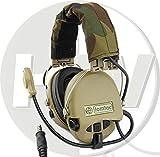 TOMTAC Airsoft SORDIN Headset MIC Boom Radio MSA Design Woodland TAN DE