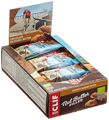 CLIF Bar - Nut Butter Filled Bar Riegel Chocolate Hazelnut Butter, 12 x 50g