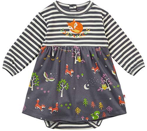 Piccalilly Vestido de niña con Cuerpo Integrado, diseño Dos en uno, algodón orgánico Suave,...
