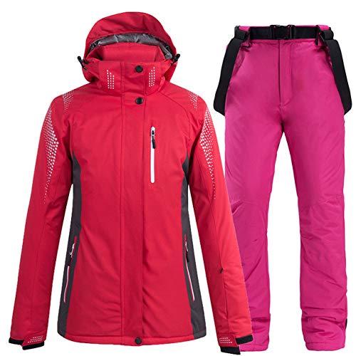 MEOBHI Skipakken dikke warme skipakken voor dames en heren, waterdicht, winddicht, skipakken en snowboardjassen, broeken, set dames winterpakken street