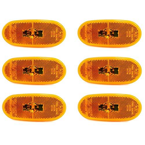 6x LED Seitenmarkierungsleuchten Markierungsleuchten Positionleuchte Orange 12V Standlicht für Sprinter/Crafter