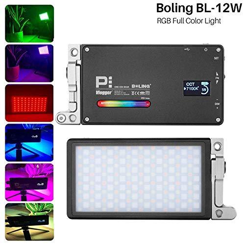 Boling BL-P1 - Luz de vídeo LED RGB 2500K-8500K, tamaño de Bolsillo, para cámara de Fotos, con batería de 2930 mAh, Sistema de Soporte Ajustable de 360°