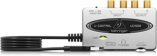 Behringer U-Control UCA202 Ultra-Low Latency 2 In/2 Out USB Audio Interface with Digital Output